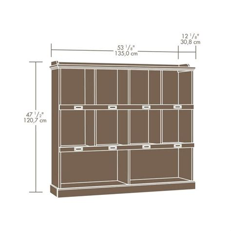 sauder barrister bookcase bookcase in scribed oak finish 414724