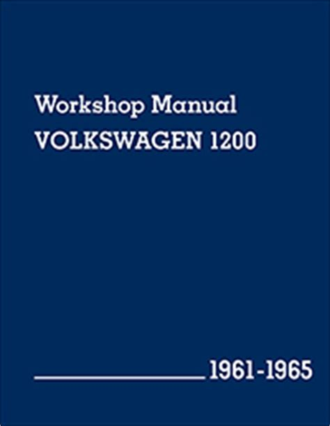 Vw Volkswagen Repair Manual 1200 1961 1965 Bentley