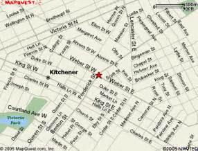 map of kitchener ontario canada kitchener map