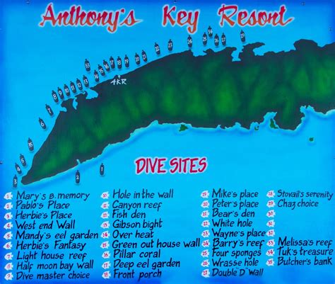 dive roatan roatan honduras dive site map