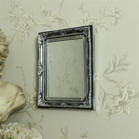 ornate bathroom mirror silver antique ornate small wall mirror bathroom bedroom