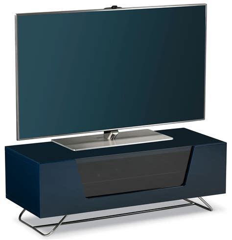 alphason chromium blue tv stand for up to 50 quot tvs