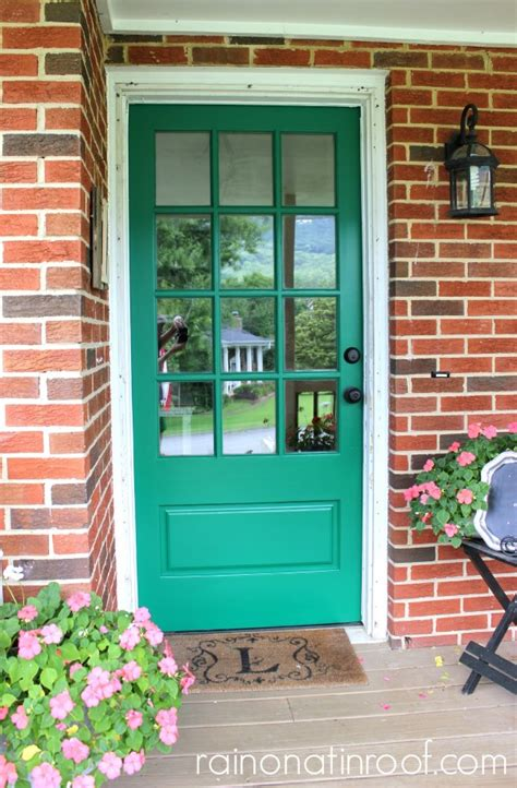 green front door emerald green front door