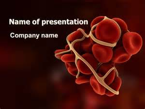 Blood Ppt Templates Free by Blood Thrombus Powerpoint Template Backgrounds 07309