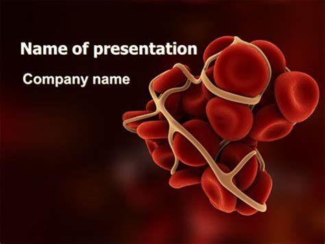 ppt templates free download blood blood thrombus powerpoint template backgrounds 07309