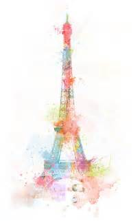 beautiful eiffel tower paint watercolor image 326243 on favim