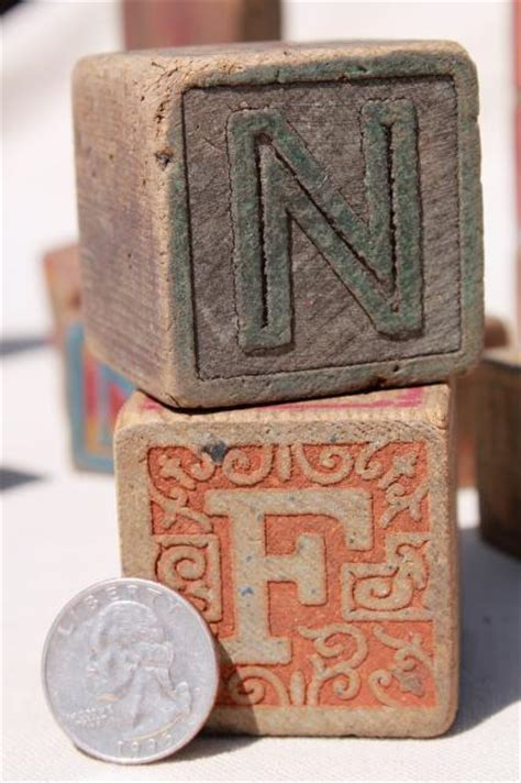 Hiasan Vintage Photo Blocks Antique antique vintage wood alphabet blocks primitive worn children s letter blocks