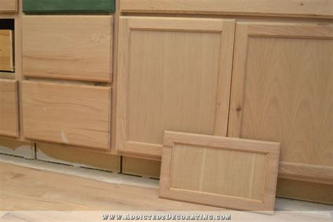 How To Make Drawer Fronts by Peninsula Drawer Front Makeover From Flat Panel To