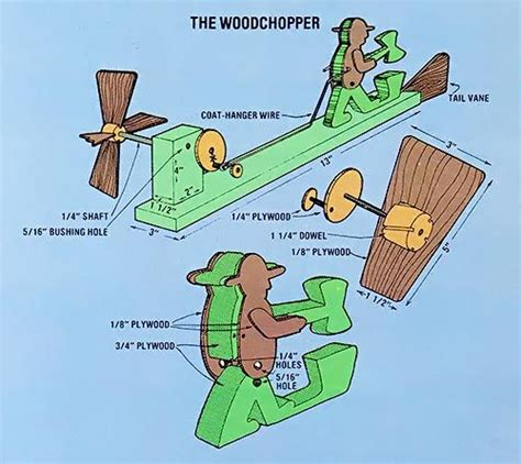 simple wood whirligig woodworking projects