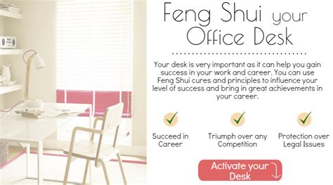 simple tips and cures to feng shui your office desk at