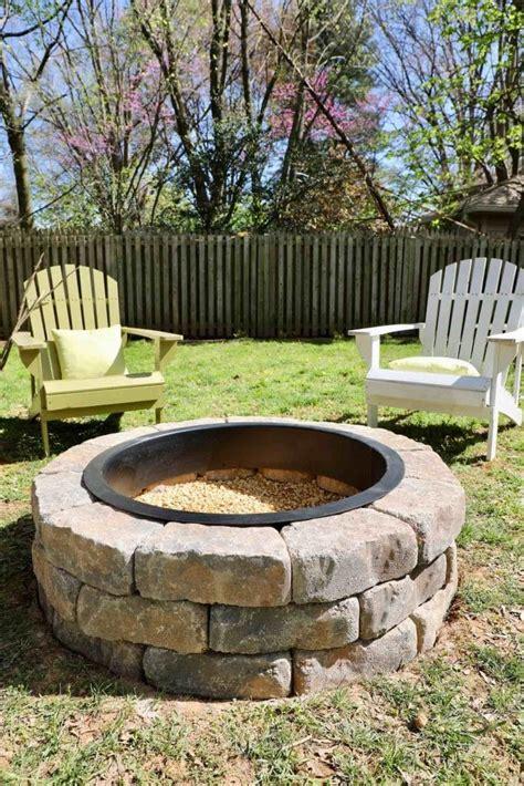 build  fire pit   backyard    fire
