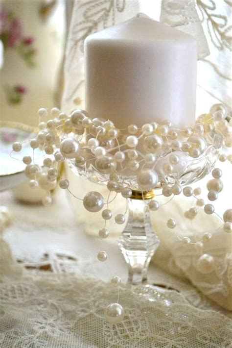 wedding centerpieces with candles and pearls 47 chic pearl wedding ideas happywedd