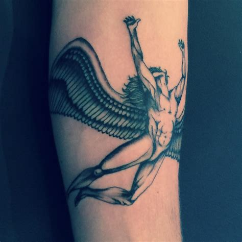 tattoo nightmares los angeles california led zeppelin icarus tattoo left forearm by stevie