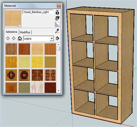 disegnare una libreria il di ulisse disegnare in 3d utilizzando sketchup