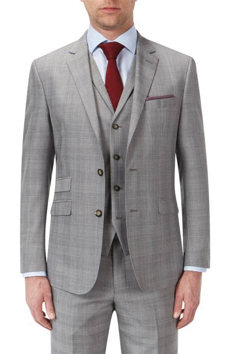 light grey three suit aintree light grey check suit 2 or 3