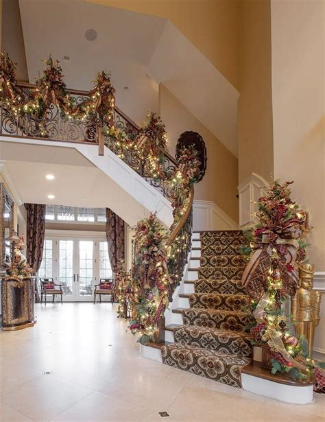 christmas entryway decorating ideas entry ways ideas 50 stunning christmas staircase decorating ideas style