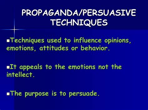 Propaganda Essay Topics by Ppt Propaganda Persuasive Techniques Powerpoint Presentation Id 1460220