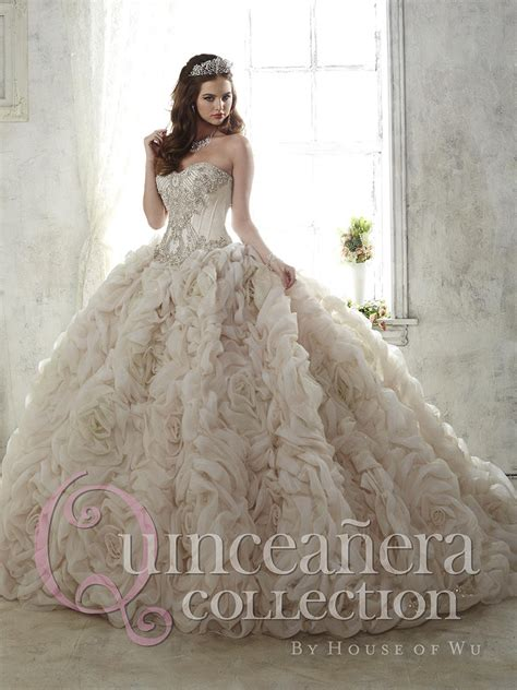 house of wu quinceanera dresses house of wu 26800 sparkle tulle rosette quinceanera dress french novelty