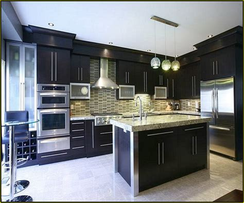 Black Cabinet Kitchen Ideas Two Tone Painted Kitchen Cabinet Ideas Home Design Ideas