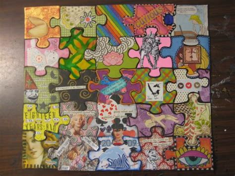 themes in art crossword clue altered puzzle paper crafts scrapbooking atcs artist