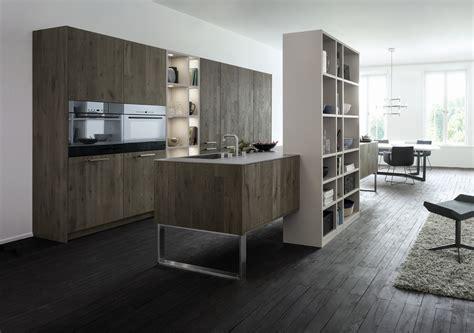 dark wood grey and white kitchen   Interior Design Ideas.