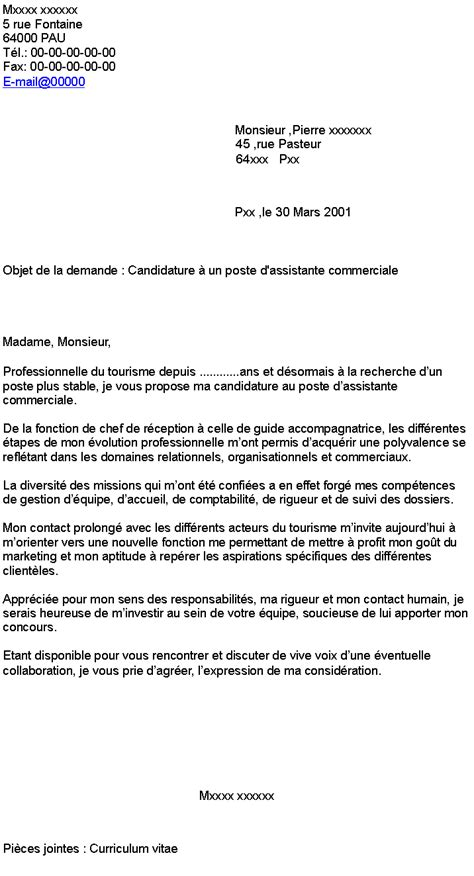 Lettre De Motivation Chef De Zone Export Candidature 224 Un Poste D Assistante Commerciale