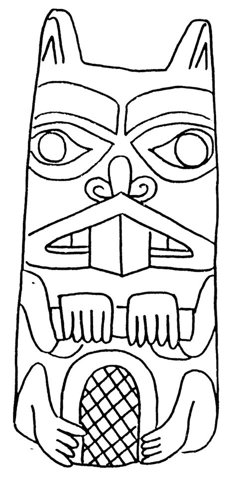 free coloring pages of totem pole bear