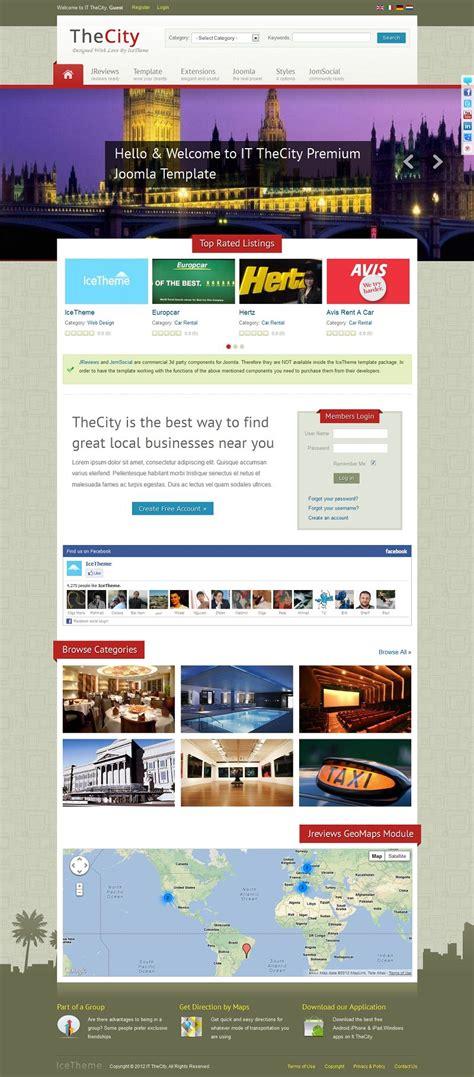 It Thecity Premium Joomla Template For Community Directory Websites Joomla Template Developer