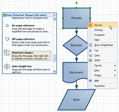 visio flowchart shapes image gallery workflow shapes