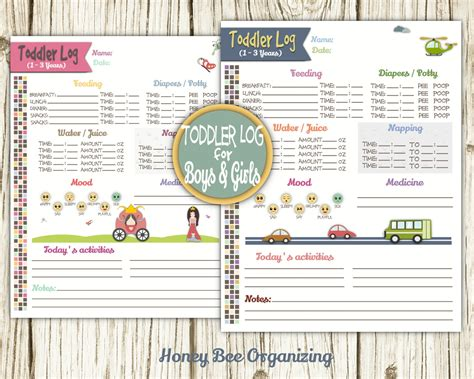 printable daily schedule babysitter toddler log printable nanny log babysitter report
