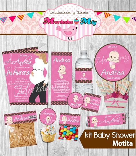 Baby Shower Kit by Invitacion Baby Shower Ni 241 A Kit Imprimelo T 250 70 00