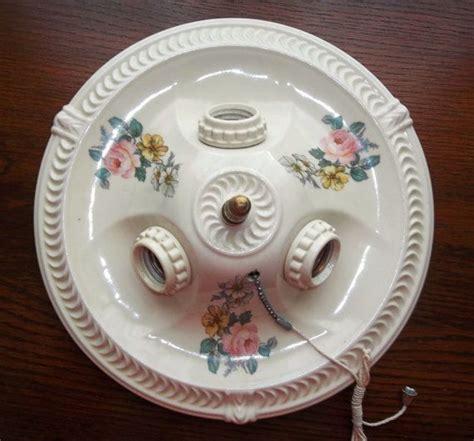 Porcelier Light Fixture 30 S Porcelier Porcelain Ceiling Light Fixture By Andreasantiques 150 00 Vintage Ls