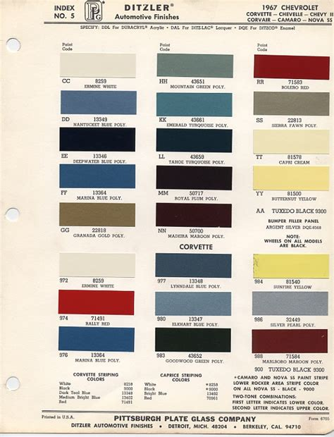 67 corvette color chart vote which 1967 bb color do you like best page 2 corvette forum
