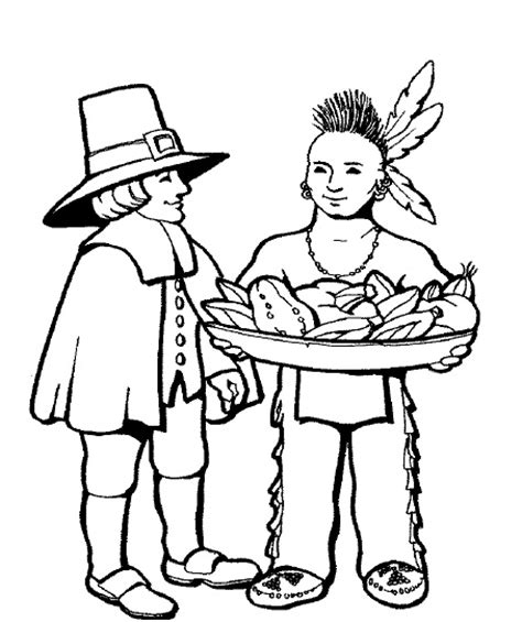 first thanksgiving coloring page nuttin but preschool