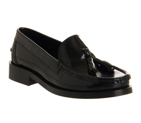 black loafers for office tallulah loafer shoes in black for black