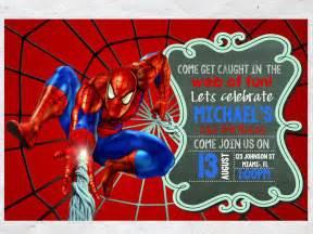 free printable spiderman birthday invitations