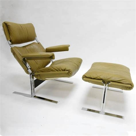 Comfortable Lounge Chairs by Comfortable Steel And Leather Lounge Chair And Ottoman By