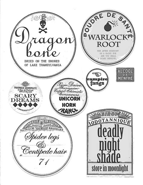 halloween printable food jar labels lots of really cool free to print labels name lables