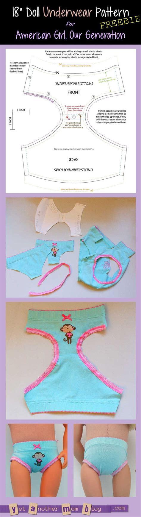 pattern generation using c our generation american girl undies bikini bottoms pattern