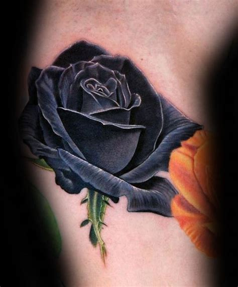 black and blue rose tattoo 90 realistic designs for floral ink ideas