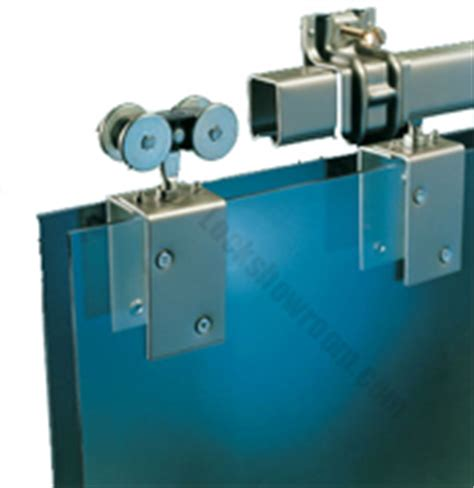 Sliding door hardware for pocket and wall mounted doors