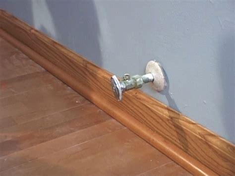 Wood Floor Molding by How To Install Floor Molding How Tos Diy