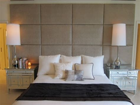 wall headboard ideas full wall headboard mirrored side tables love the