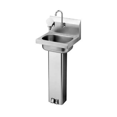 Plumbing For Pedestal Sink by Krowne Hs 14 17 In Pedestal Base Sink With Faucet
