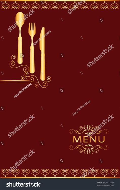 hotel menu template food restaurant hotel menu template design stock vector