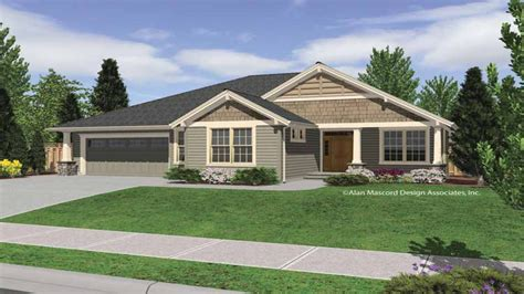 Craftsman Style House Plans One Story by Rustic Single Story Homes Single Story Craftsman Home