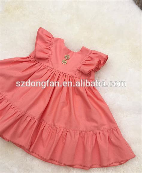 dress design cutting video coral ruffle dress simple baby dress cutting girl dress