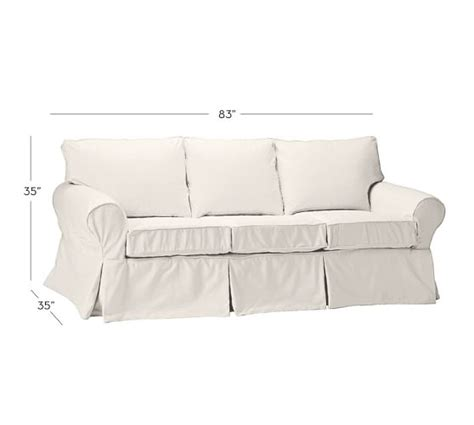 white slipcovered sofas for sale sale pb basic slipcovered sleeper sofa pottery barn