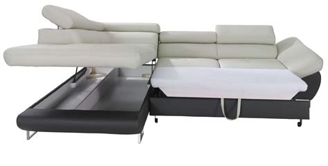 Sleeper Sectional Sofas Fabio Sectional Sofa Sleeper With Storage Creative Furniture
