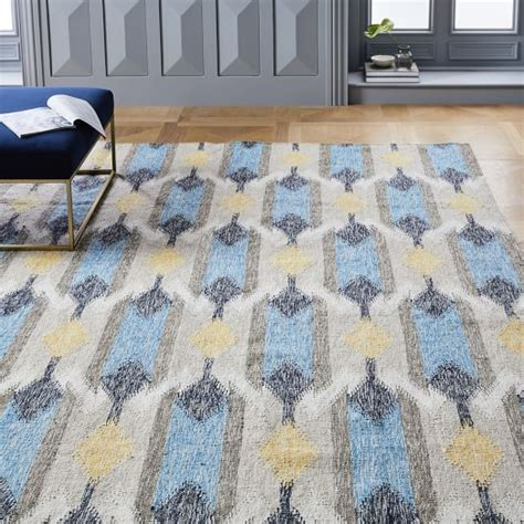 ikat indoor outdoor rug tear drop ikat kilim indoor outdoor rug west elm